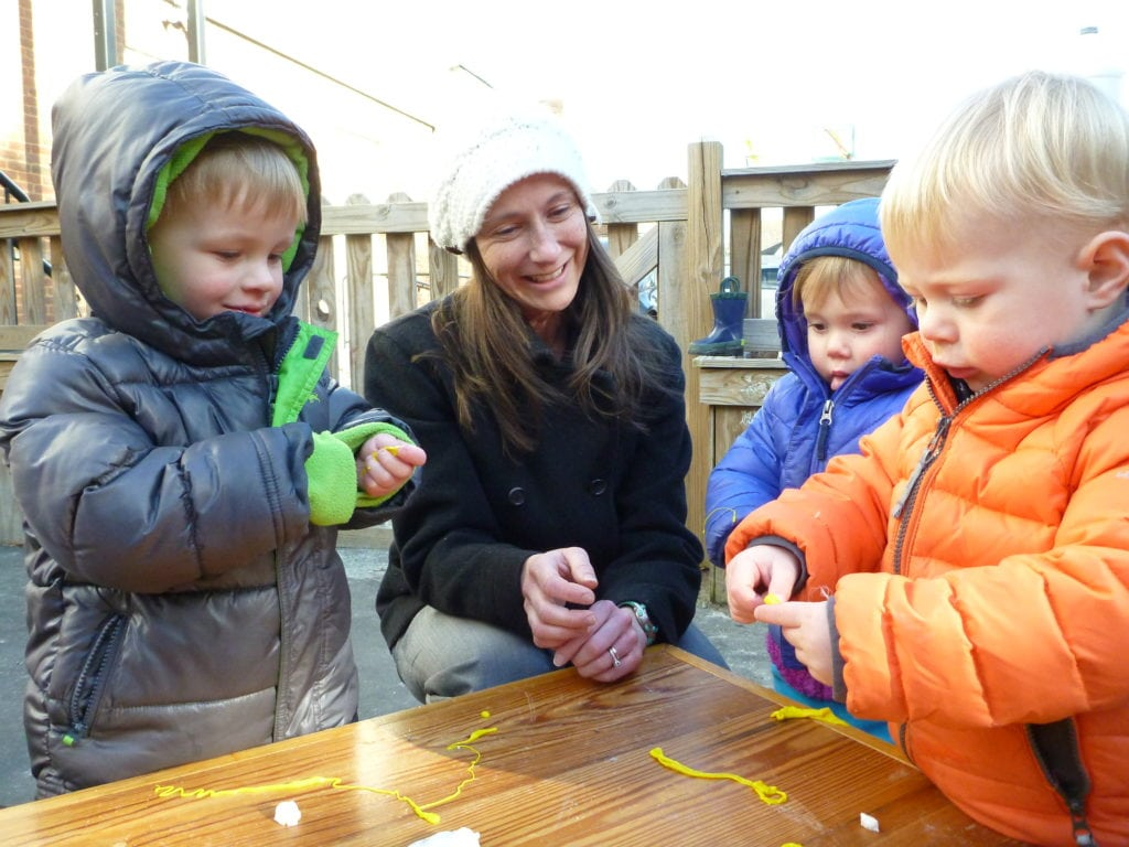 child care and preschool - toddler sensory experience