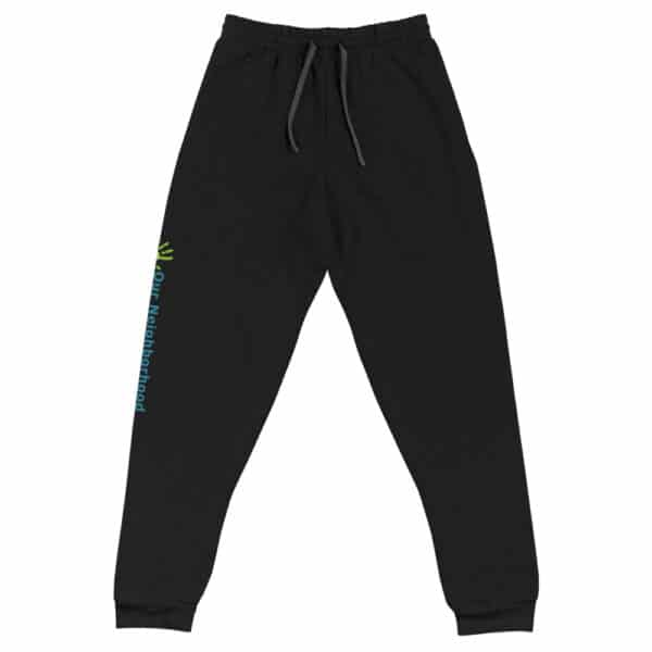 black joggers, front view