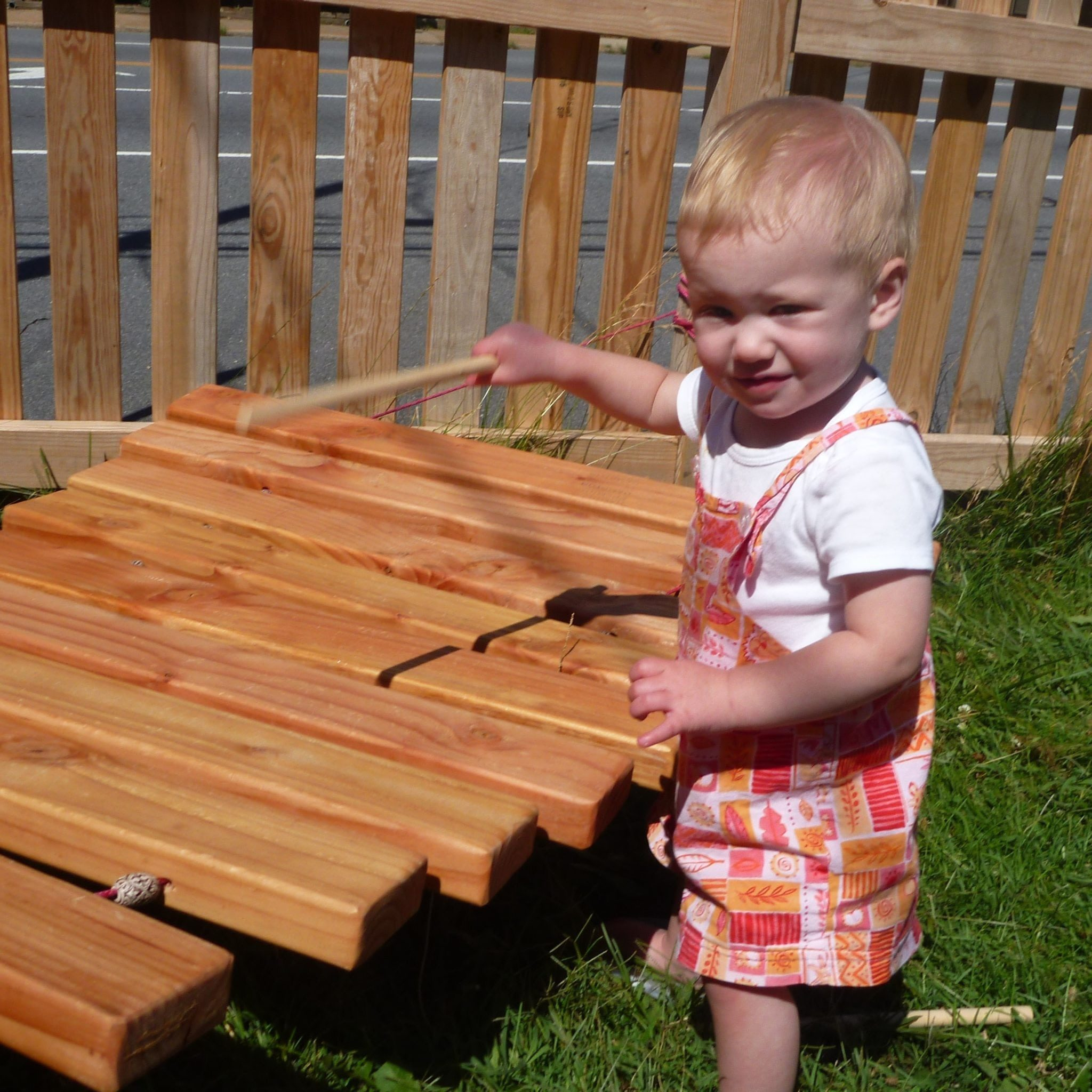 Our Neighborhood Babies Playing the Xylophone
