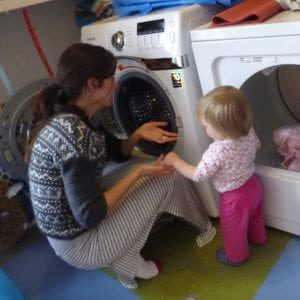 sq- cooperative parent child - teachers facilitating experiences for toddlers